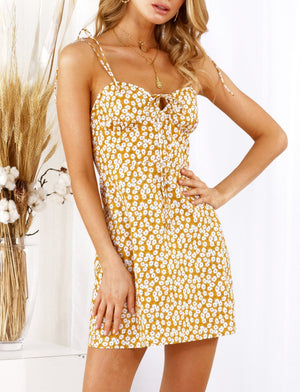 Emily Floral Dress Yellow