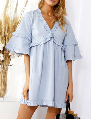 Lila Dress Blue