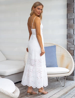 Amy White Maxi Dress