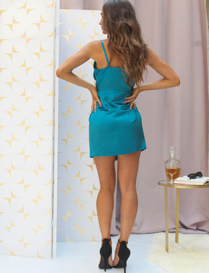 Harper Mini Dress Turquoise