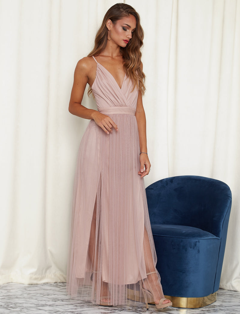 Pure Romantic Maxi Dress Pink
