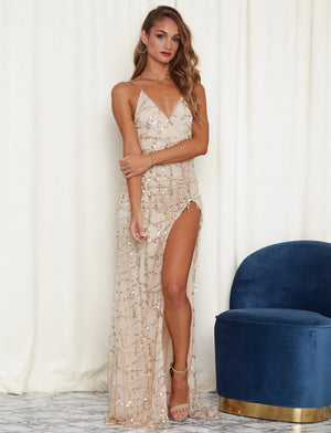 Sexy Shine Sequin V-Neck Party Dress