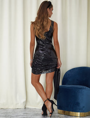 Must Have It Sequin Party Mini Dress Black