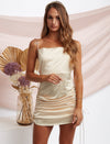 Leah Satin Mini Dress Gold