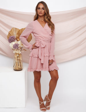 Dolce Vita Long Sleeve Pink Dress