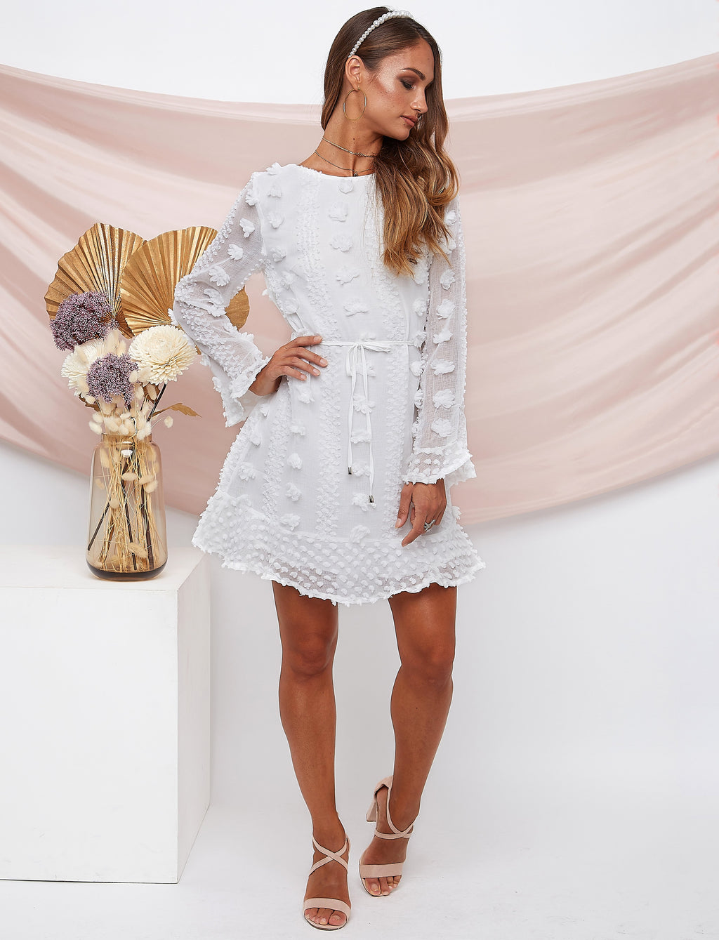 Alexandra White Dress Linen
