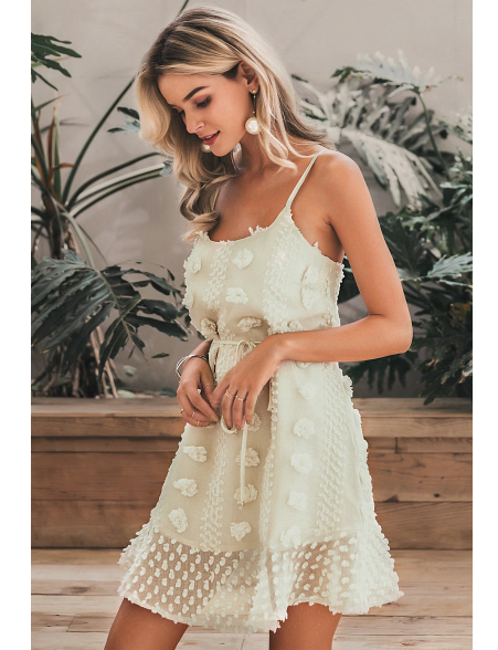 Dolce Cream Mini Dress