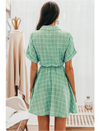 Leia Plaid Dress Green