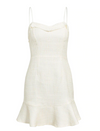 Cherie Tweed Mini Dress Cream