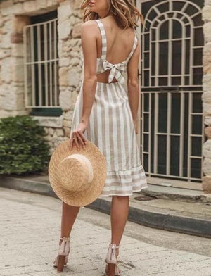 Cynthia Stripes Dress