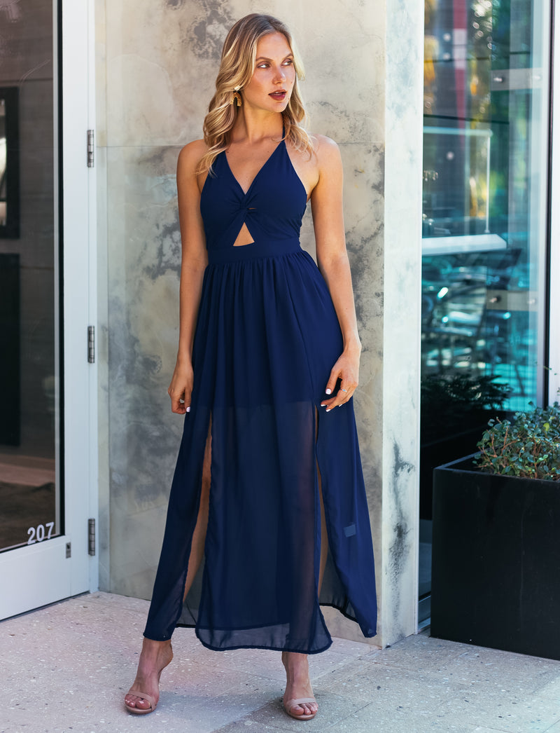 Stefania Maxi Dress Blue