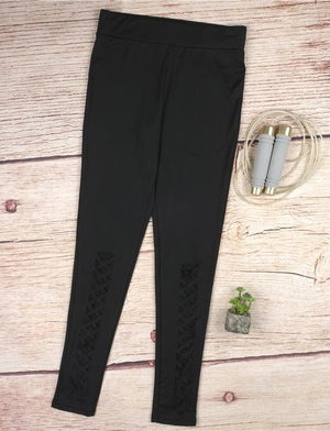 Crisscross Legging Black