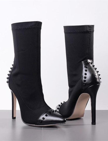 Studded Sock Bootie