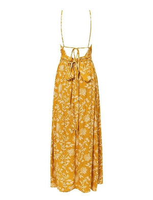 Lila Maxi Dress Yellow