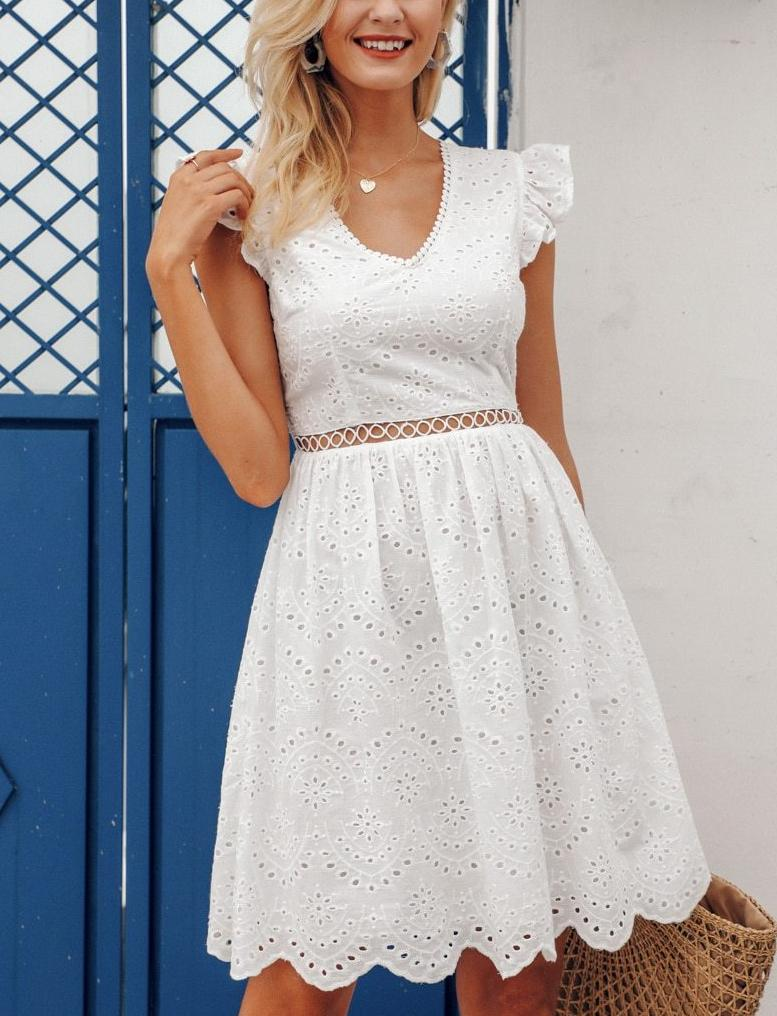 Meredith Dress White