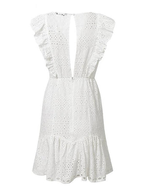 Evelina Dress White
