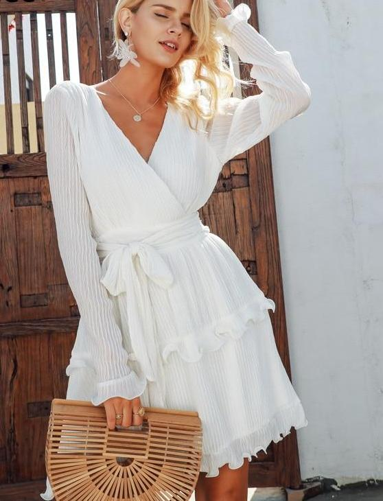 Sharon Dress White
