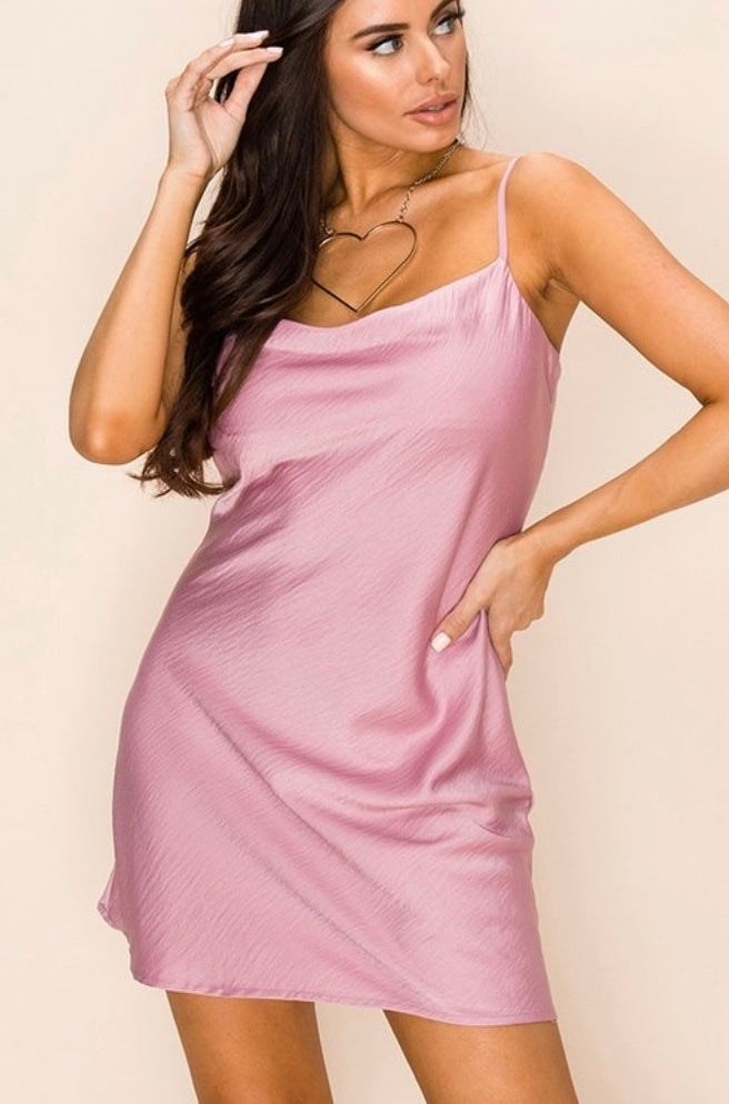 Pink Panther/ Satin Dress