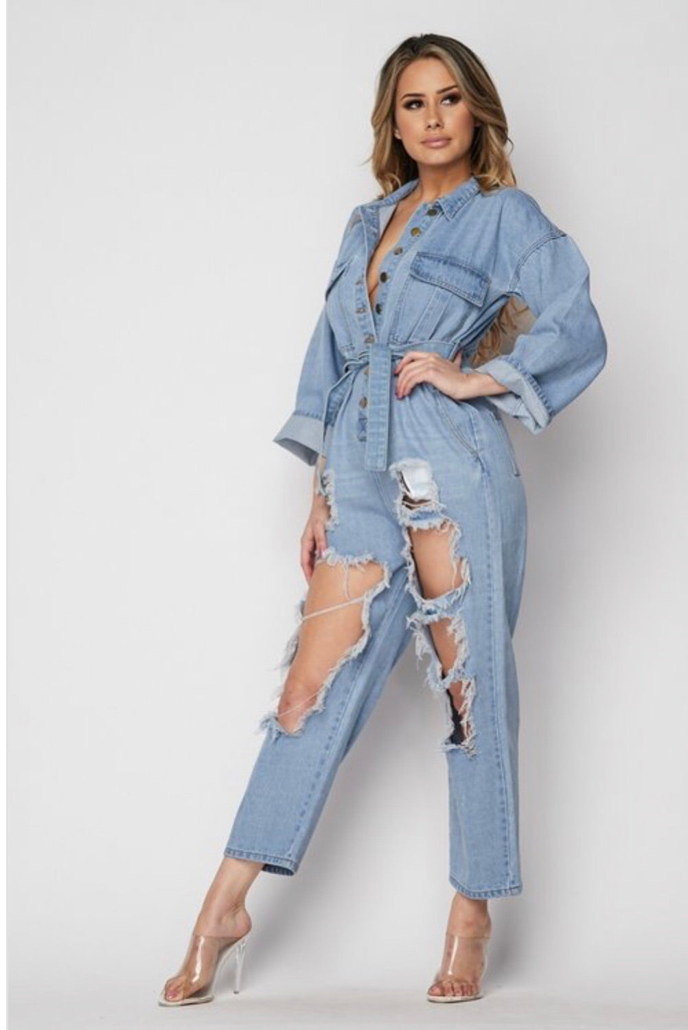 Disaster Denim Jumpsuit