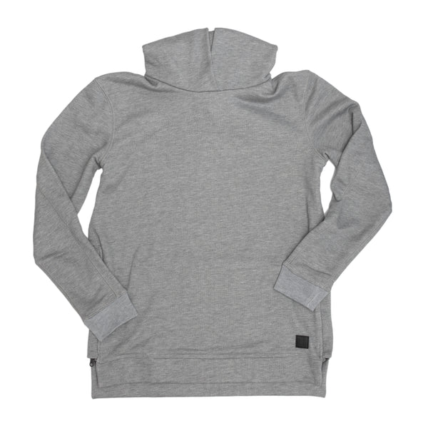 slim fit grey hoodie with side zippers