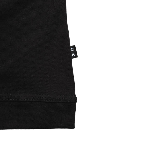 black crew neck classic cut t-shirt