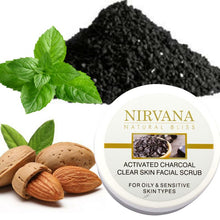 Activated Charcoal Clear Skin Facial Scrub - Nirvana Natural Bliss Luxury Vegan Skincare & Health Co.