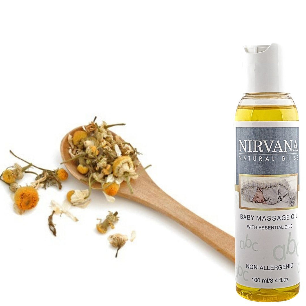 Baby Massage Oil - Nirvana Natural Bliss Luxury Vegan Skincare & Health Co.