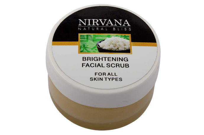 Brightening Facial Scrub - Nirvana Natural Bliss Luxury Vegan Skincare & Health Co.
