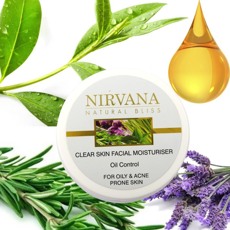 Facial Moisturiser for Oily and Acne-Prone Skin : Oil Control - Nirvana Natural Bliss Luxury Vegan Skincare & Health Co.