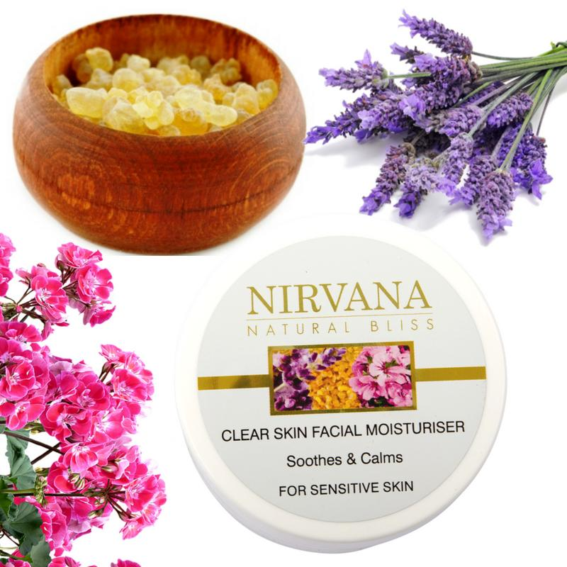 Facial Moisturiser for Sensitive Skin: Soothes and Calms - Nirvana Natural Bliss Luxury Vegan Skincare & Health Co.