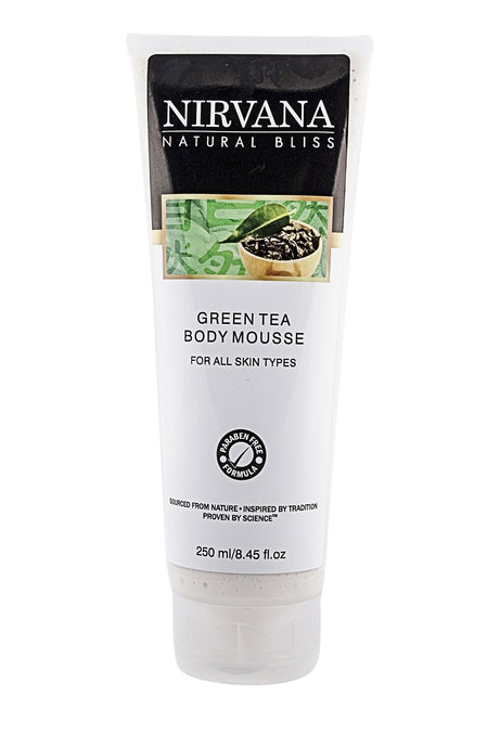 Green Tea Body Mousse - Nirvana Natural Bliss Luxury Vegan Skincare & Health Co.