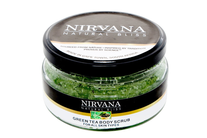 Green Tea Body Scrub - Nirvana Natural Bliss Luxury Vegan Skincare & Health Co.