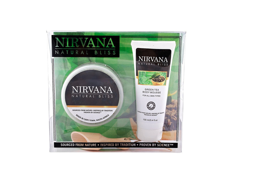 Invigorating Green Tea Pamper Set - Nirvana Natural Bliss Luxury Vegan Skincare & Health Co.