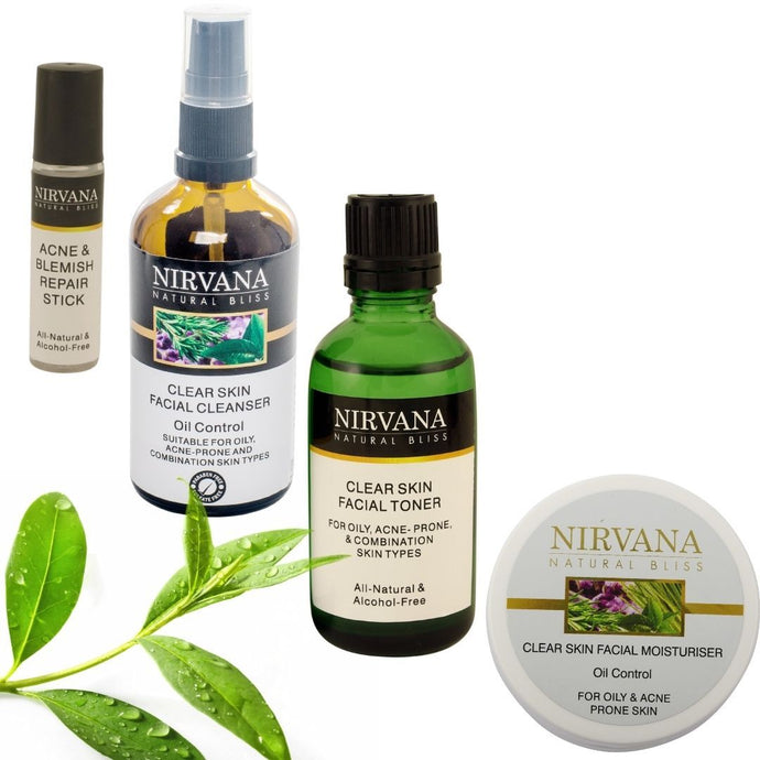 Nirvana Natural Bliss Clear Skin Acne Control Set - Nirvana Natural Bliss Luxury Vegan Skincare & Health Co.