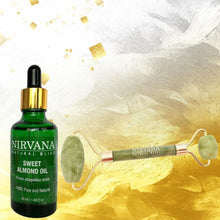 Nirvana Natural Bliss Sweet Almond and Duo Jade Roller Combo - Nirvana Natural Bliss Luxury Vegan Skincare & Health Co.