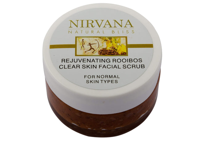 Rejuvenating Rooibos Clear Skin Facial Scrub - Nirvana Natural Bliss Luxury Vegan Skincare & Health Co.