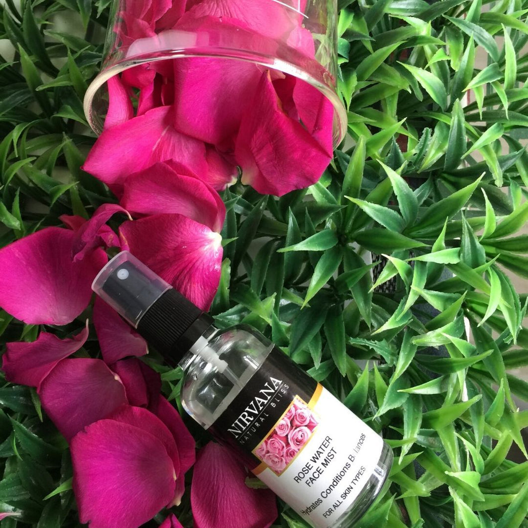 Rosewater Facial Mist - Nirvana Natural Bliss Luxury Vegan Skincare & Health Co.