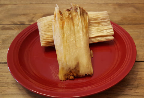Dozen Chicken Tamales with Red Sauce  - FROZEN