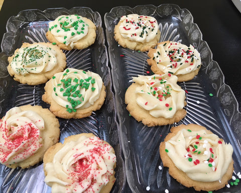 Frosted Sugar Cookies in a Christmas Tin dozen