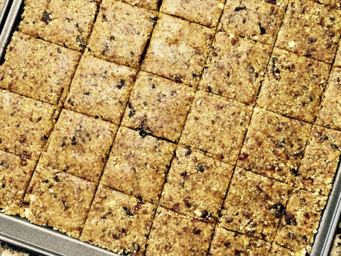 Apricot Squares -  With herbs and Spices, Gluten Free, Plant Based ( aprrox 7 squares)