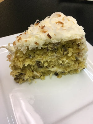 Italian Cream Coconut Cake (slice)