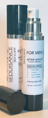 SEDUISANCE FOR MEN After Shave Face Serum Eucalyptus Net Wt 1.7 fl oz (50 ml)