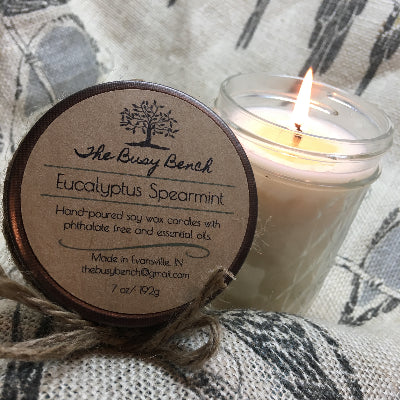 7 oz Soy Wax Candle - Eucalyptus Spearmint
