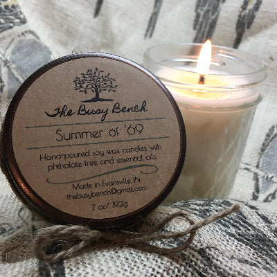 7 oz Soy Wax Candle -Summer of '69