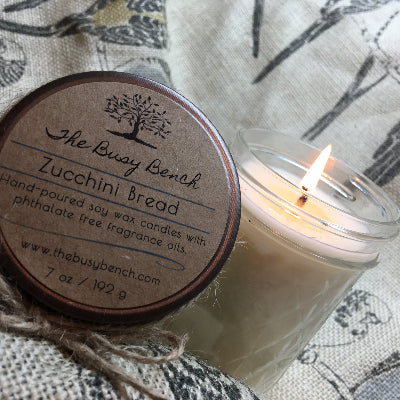 7 oz Soy Wax Candle - Zucchini Bread