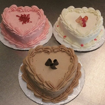 Heart Shaped Cake - Strawberry
