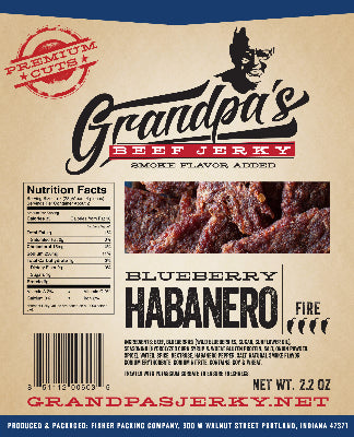 Beef Jerky -- Blueberry Habanero (2.2 OZ)