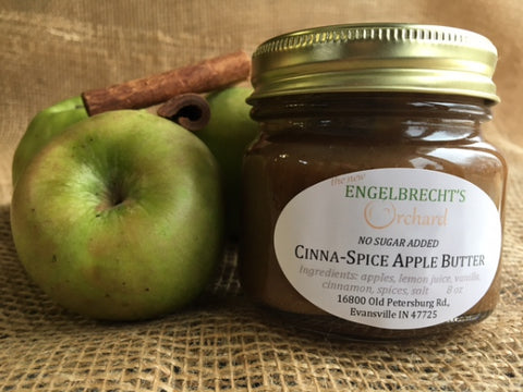 Cinna-Spice Apple Butter (no sugar added) - 1/2 pint