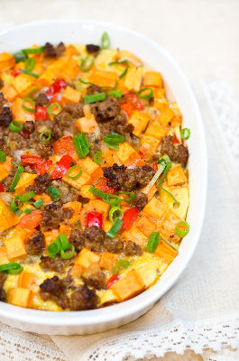 Sausage & Sweet Potato Breakfast Casserole (gluten-free)