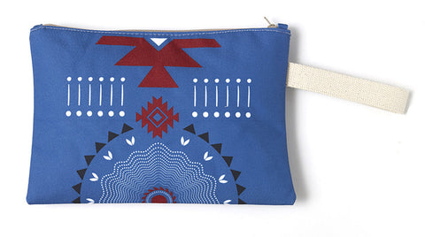 Blue & red creative fashion summer clutch bag.